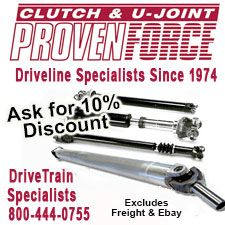 Clutch and U Joint Proven Force Drive Train 10% Discount