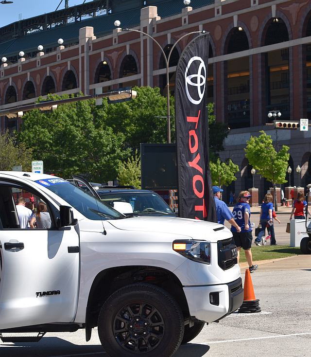 Toyota Official Truck Sponsor of the Texas Rangers